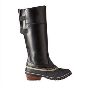 NIB Sorel Slimpack riding tall II boots in black